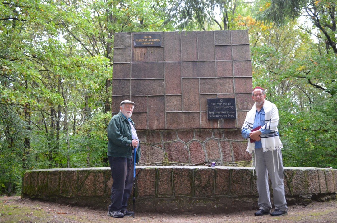 Kadish at the Memorial for Kretinga's Jews at the Massacre Site in the Kveciai Forest