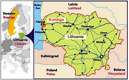 Kretinga Map