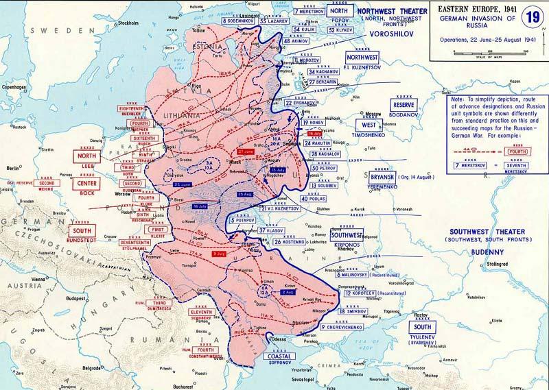 The Barbarossa Operation of Nazi Germany into the Soviet Union